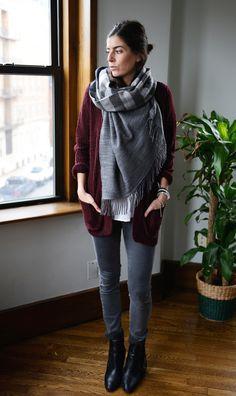 Blanket scarf envy via pumpsandiron.com