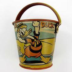 vintage Donald duck sand pail