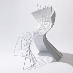eva chou architecturally engineers warped surfaces for R shell chair - #chair #chairideas #chairdesign #chairinspiration #design #architecture