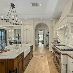 Which Scottsdale French Country Inspired Home Would You Choose? - Hello Lovely - - Fantasy house tour time with these luxurious Scottsdale French Country inspired homes with elegant finishes, jaw dropping kitchens, and mountain views. French Country House Plans, French Country Kitchens, French Country Living Room, French Country Farmhouse, French Country Decorating, Modern French Kitchen, French Cottage, French Decor, Country Chic