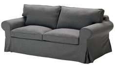 EKTORP Sofa bed - Svanby gray - IKEA - perfect for a man cave/guest room, and then later in a nursery or playroom. Sofa Cama Ikea, Ikea Couch, Ikea Bed, Grey Couch Covers, Sofa Covers, Comfy Sofa, Comfortable Sofa, Ektorp Sofa Bed, Sleeper Couch