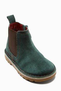 Green Chelsea Boots (Younger Boys)