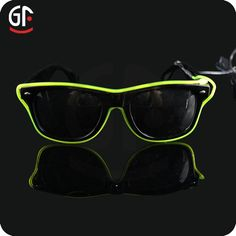 Multi-Color Led EL Flashing Sunglasses 2015 Party Cheap Colored Half Frame EL Glasses Low Moq Fir Christmas Party, View Party Glasses Low Moq, GF Product Details from Shenzhen Great-Favonian Electronics Co., Ltd. on Alibaba.com