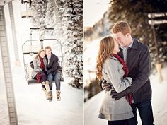 LOVE this winter photo shoot at Snowbird ski resort! But how did they get lift pictures with no other people on the lift?