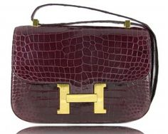 wine-colored Hermes