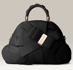 Versace's Venita Bow Satchel in black