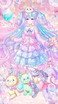 Cute Anime Chibi, Chica Anime Manga, Anime Girl Cute, Anime Neko, Kawaii Anime Girl, Anime Art Girl, Cute Kawaii Drawings, Anime Girl Drawings, Cute Cartoon Wallpapers