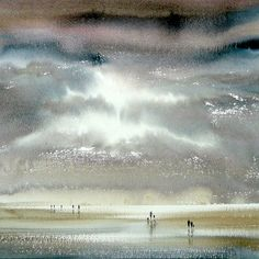 Keith Nash is inspired to create his subtle watercolours by East Anglia's big skies, coastal marshes, birds and beaches.