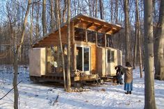 Reclaimed Straw Bale Bunkhouse