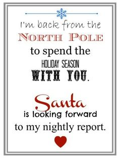 Elf Returns from the North Pole Letter - Coupons Are Great || Elf on the Shelf Ideas for Arrival: 10 Free Printables! || Letters from Santa Blog || A collection of 10 amazing free printable letters for a spectacular Elf on the Shelf arrival!