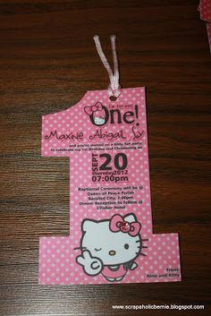 Another project by KimiF1Creations   Hello Kitty No.1 Invites    Hello Kitty No.1 Invites     Hello Kitty No.1 Invites with Gem Embelli...