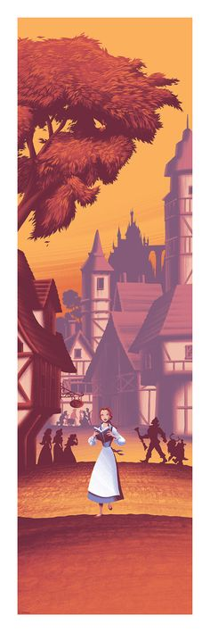 More Arty D23 Expo Exclusives: Englert Does Beauty and the Beast, Shorts Collection Handbills, and Eric Goldberg | Disney Insider | Articles