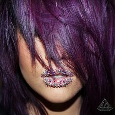 dark purple violet #hair color