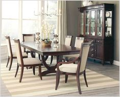 Coaster Furniture Alyssa II Natural cognac wood larger dining table This modern classic design is Traditional Formal Dining Room, Dining Room Small, Farmhouse Dining Room, Minimalist Dining Room, Formal Dining Room Sets, Luxury Dining, Solid Wood Dining Table, Dining Room Decor, Room Furniture Design