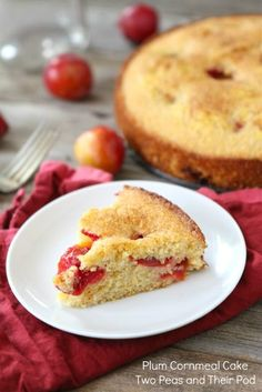 Plum Cornmeal Cake from www.twopeasandtheirpod.com #recipe