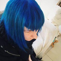 ...Mia pou simera oloi vafoun... #kokkina#avga#mple#mallia#blue#hair#direction#icehairlab #icehalandri Blue Hair, Dreadlocks, Long Hair Styles, Beauty, Instagram, Beleza, Dreads, Long Hair Hairdos, Box Braids