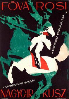 By Sándor Lengyel, 1964, Czechoslovakian-Bulgarian Grand Cricus at the Metropolitan Grand Circus.