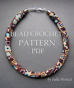 "This is my bead crochet pattern for necklace ""Skyscraper"""