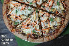 Emily Bites - Weight Watchers Friendly Recipes: Thai Chicken Pizza