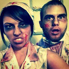 Zombie makeup   Zombie.  Halloween costume nurse doctor zombie halloween   Twitter @Tiffany Robertson