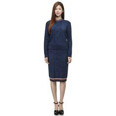 [커스텀멜로우] [women] twisted knit skirt