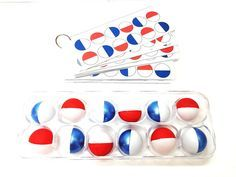 Ping Pong Ball Match cards on the ring