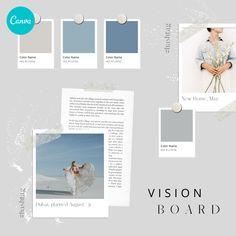 Vision Board Instagram Post Design – Canva Template #instagram #post #template #canva #canvapro #minimalist #minimal #simple #vision #board #elegant #chic #design #social #media #feminine #quote #new #colorcard #ideas #diy #polaroid #goals #year