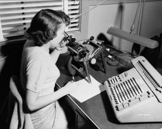 In the '40s and '50s NASA actively recruited women for computing work. Here, in 1952, a female employee is at work at Langley Research Center. | Take A Look Inside NASA In The '50s