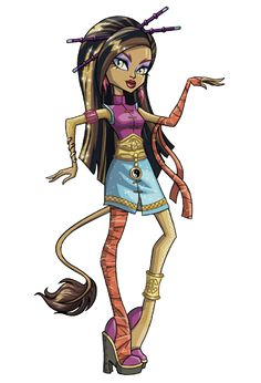 All about Monster High: Freaky Fusion Clawdeen, Celo, Draculaura, Jinafire, Abbey & Lagoona artworks
