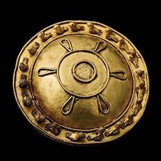 Round Gold Brooch with Birds, Ancient Georgia, grave 24, ca. 350-300 B.C.