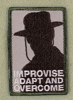 Heartbreak Ridge - Improvise, Adapt and Overcome Patch - Arid - coupon saving money Survival, Emergency Preparedness, Airsoft, Once A Marine, Tactical Patches, Cool Patches, Morale Patch, Clint Eastwood, Cool Stuff