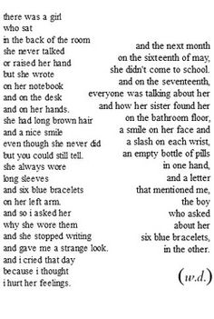 Self harm & Suicide. Sad Poems, Poem Quotes, Life Quotes, Qoutes, Dark Quotes, My Demons, Depression Quotes, How I Feel, Deep Thoughts