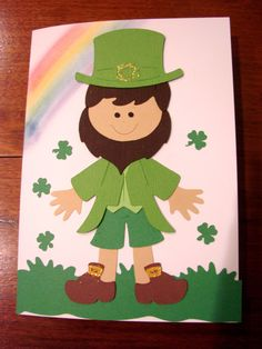 St. Patrick's Day Card using Paper Dolls Cartridge and Cricut