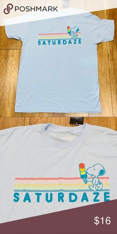 9116724c0 Peanuts Snoopy Saturdaze Blue Jrs Long T-Shirt You are looking at a  fantastic Peanuts