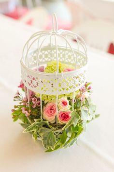 Adorable Floral Centerpiece for a garden party!