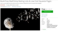 Build Free MailChimp Mailing Lists & Low Cost Squeeze Pages http://ift.tt/1n1Z1iy  #udemy #coupon #discount