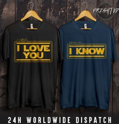 Star Wars Leia Solo I Love You I Know T Shirt Valentines Day Couple Matching - http://bestsellerlist.co.uk/star-wars-leia-solo-i-love-you-i-know-t-shirt-valentines-day-couple-matching/