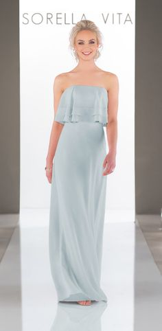 a459ec827c0 Sorella Vita - This floor-length chiffon bridesmaid dress is perfect for  beachy boho style. It features a halter neckline