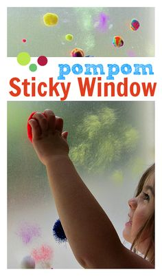 pompom sticky window boredom buster for kids