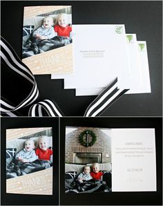 Seal your thank you cards with a kiss this holiday season.