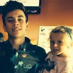 My beautiful bae and his adorable little sister!! <3