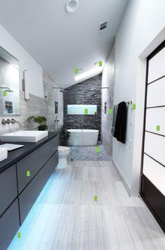 Salle de bain en longueur #Salle de bain