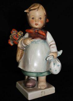 Weary Wanderer Hummel Figurine W Goebel 204 78 1949 Germany Full Bee TMK 2 Girl