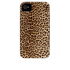 Case-Mate - Case for Apple iPhone 4/4S - Retail Packaging - Cheetah Print Tough with Silicone Bumper
