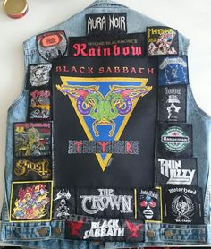 Battle Jacket My The Backpatch is my pride. Original Saw Black Sabbath on their TYR tour in Stockholm back in Slayer patch bottom left is made by Thomas Mandilas and I believe there were only one hundred made. Combat Jacket, Battle Jacket, Jacket Patches, Vest Jacket, Cool Jackets, Denim Jackets, Yuri On Ice Comic, Pride And Glory, Full Metal Jacket