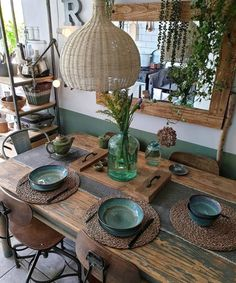 Rustic House Decor – Idea of Decoration - Dining Room Inspiration, Home Decor Inspiration, Interior Design Kitchen, Kitchen Decor, Upcycled Home Decor, Room Decor Bedroom, Home And Living, Living Room Designs, Home Fashion