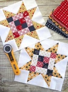 Sewing Quilts Meet the Makers Quilt Block Tutorial Star Quilt Blocks, Star Quilt Patterns, Star Quilts, Mini Quilts, Pattern Blocks, Block Quilt, Shirt Patterns, Pattern Sewing, Quilt Kits