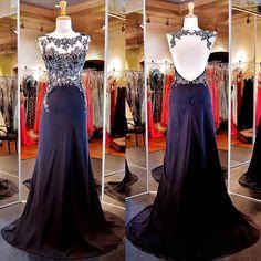 New Arrival Women Dress,backless Prom Dress,chiffon Prom Dress,Long