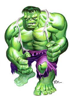 Hulk by Bruce Timm Marvel Comics, Hq Marvel, Dc Comics Art, Comic Book Artists, Comic Book Heroes, Comic Artist, Comic Books Art, Bruce Timm, Stan Lee