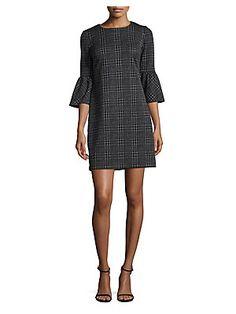 Calvin Klein Plaid Knit Sheath Dress